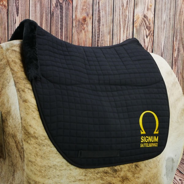SIGNUM Saddle pad with synthetic fur