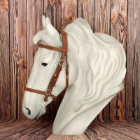 Spanish Bridle Conde Simple with Leather Reins